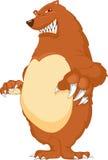 Desenhos animados irritados do urso Imagem de Stock Royalty Free