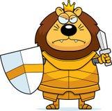 Desenhos animados irritados Lion King Armor ilustração do vetor