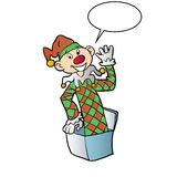 Desenhos animados Jack In The Box Fotografia de Stock