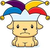 Desenhos animados Jester Puppy irritado Imagem de Stock Royalty Free