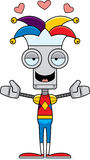Desenhos animados Jester Robot Hug ilustração stock