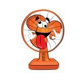 Desenhos animados loucos do fã de tabela Foto de Stock Royalty Free