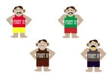 Desenhos animados masculinos em ternos do esporte Fotos de Stock