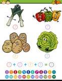 Desenhos animados matemáticos da tarefa Imagens de Stock