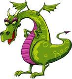 Desenhos animados maus do dragão Imagem de Stock