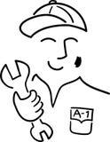 Desenhos animados Mechanic/ai Imagens de Stock Royalty Free