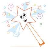 Desenhos animados mágicos da varinha Imagem de Stock