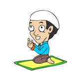 Desenhos animados muçulmanos Foto de Stock Royalty Free