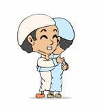Desenhos animados muçulmanos Imagens de Stock