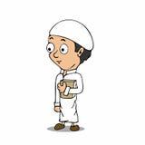 Desenhos animados muçulmanos do menino Fotos de Stock Royalty Free