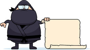 Desenhos animados Ninja Sign Imagens de Stock Royalty Free