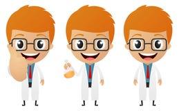 Desenhos animados novos do cientista Fotografia de Stock