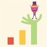 Desenhos animados os melhores da ideia do homem de negócios Imagem de Stock Royalty Free