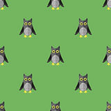 Desenhos animados Owl Seamless Pattern Imagens de Stock Royalty Free