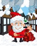 Desenhos animados Papai Noel ilustração royalty free