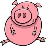 Desenhos animados pequenos do porco ou do leitão Fotografia de Stock