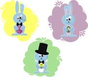 Desenhos animados pouco coelho de coelhinho da Páscoa Imagem de Stock Royalty Free