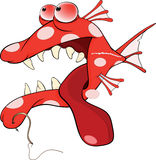 Desenhos animados predatórios dos peixes Fotografia de Stock