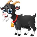 Desenhos animados pretos bonitos da cabra Foto de Stock
