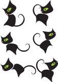 Desenhos animados pretos da vaquinha Imagens de Stock