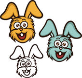 Desenhos animados principais do coelho Fotografia de Stock