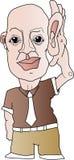 Desenhos animados que escutam atenta Imagens de Stock