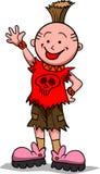 Desenhos animados Raging do menino ilustração royalty free