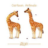 Desenhos animados: Retrato do girafa bonito da senhora Foto de Stock Royalty Free