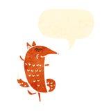 desenhos animados retros da raposa inteligente ilustração stock