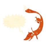 desenhos animados retros da raposa inteligente ilustração royalty free