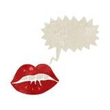 desenhos animados retros de fala da boca Fotos de Stock