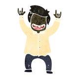 desenhos animados retros que comemoram o homem de negócio Imagem de Stock Royalty Free