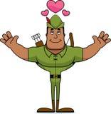 Desenhos animados Robin Hood Hug ilustração stock