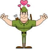 Desenhos animados Robin Hood Hug ilustração royalty free