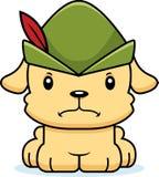 Desenhos animados Robin Hood Puppy irritado Imagem de Stock Royalty Free
