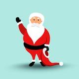 Desenhos animados Santa Claus Merry Christmas e ano novo feliz Ilustração do vetor Fotos de Stock