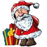 Desenhos animados Santa em um estilo esboçado Fotografia de Stock Royalty Free