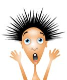 Desenhos animados Scared de Little Boy Foto de Stock Royalty Free