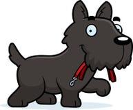 Desenhos animados Scottie Leash ilustração stock