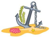 Desenhos animados subaquáticos Imagem de Stock Royalty Free