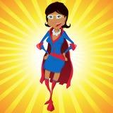 Desenhos animados super pretos da matriz da mulher Fotografia de Stock Royalty Free