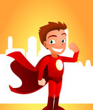 Desenhos animados Superboy Imagem de Stock Royalty Free