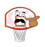 Desenhos animados surpreendidos da aro de basquetebol Fotos de Stock
