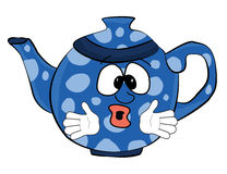 Desenhos animados surpreendidos do bule Imagem de Stock Royalty Free