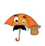Desenhos animados surpreendidos do guarda-chuva Fotos de Stock Royalty Free