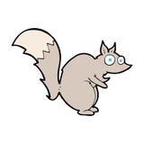 desenhos animados surpresos engraçados do esquilo Fotografia de Stock Royalty Free