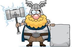 Desenhos animados Thor Sign Imagens de Stock