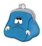 Desenhos animados tristes da carteira Imagem de Stock Royalty Free