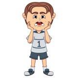 Desenhos animados tristes do rapaz pequeno Imagens de Stock Royalty Free