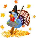 Desenhos animados Turquia com com um injetor Imagem de Stock